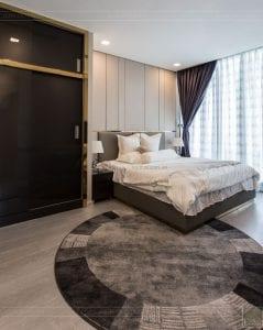 thi công căn hộ chung cư vinhomes ba son - phòng ngủ master 2
