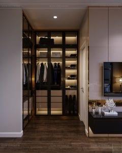thiết kế nhà theo phong cách hiện đại - phòng ngủ master 3