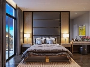 thiết kế nhà theo phong cách hiện đại - phòng ngủ master 2