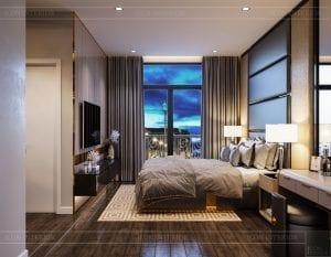 thiết kế nhà theo phong cách hiện đại - phòng ngủ master 1