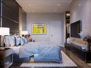 thiết kế nhà theo phong cách hiện đại - phòng ngủ master 4