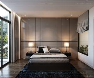 thiết kế nhà theo phong cách hiện đại - phòng ngủ 1