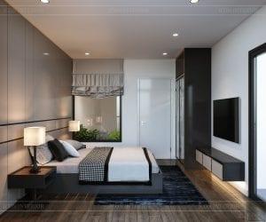 thiết kế nhà theo phong cách hiện đại - phòng ngủ 2