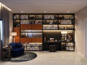 thiết kế nhà theo phong cách hiện đại - phòng làm việc 1