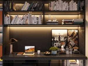 thiết kế nhà theo phong cách hiện đại - phòng làm việc 2