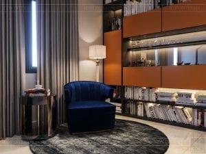 thiết kế nhà theo phong cách hiện đại - phòng đọc sách 2