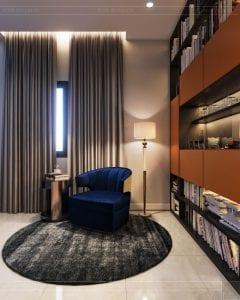 thiết kế nhà theo phong cách hiện đại - phòng đọc sách 3