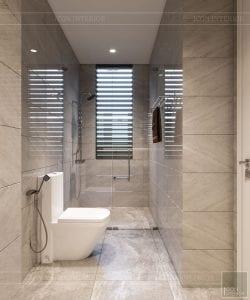 thiết kế nhà theo phong cách hiện đại - phòng vệ sinh 2