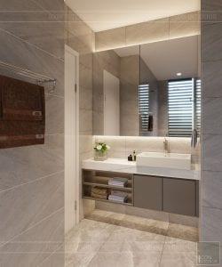 thiết kế nhà theo phong cách hiện đại - phòng vệ sinh 1