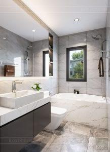 thiết kế nhà theo phong cách hiện đại - phòng vệ sinh master 1