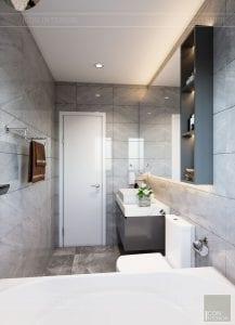 thiết kế nhà theo phong cách hiện đại - phòng vệ sinh master 2