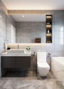 thiết kế nhà theo phong cách hiện đại - phòng vệ sinh master 3