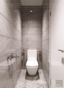 thiết kế nhà theo phong cách hiện đại - phòng vệ sinh 3