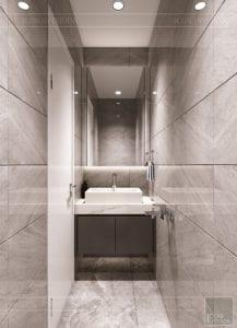 thiết kế nhà theo phong cách hiện đại - phòng vệ sinh 4