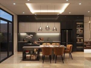 thiết kế nhà theo phong cách hiện đại - phòng bếp