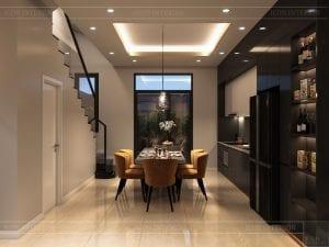 thiết kế nhà theo phong cách hiện đại - phòng ăn 1