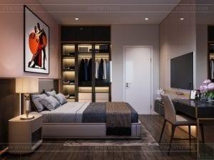 thiết kế nhà theo phong cách hiện đại - phòng ngủ 5