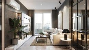 phong cách công nghiệp trong thiết kế nội thất - phòng khách bếp 3