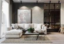 phong cách công nghiệp trong thiết kế nội thất - phòng khách bếp 5