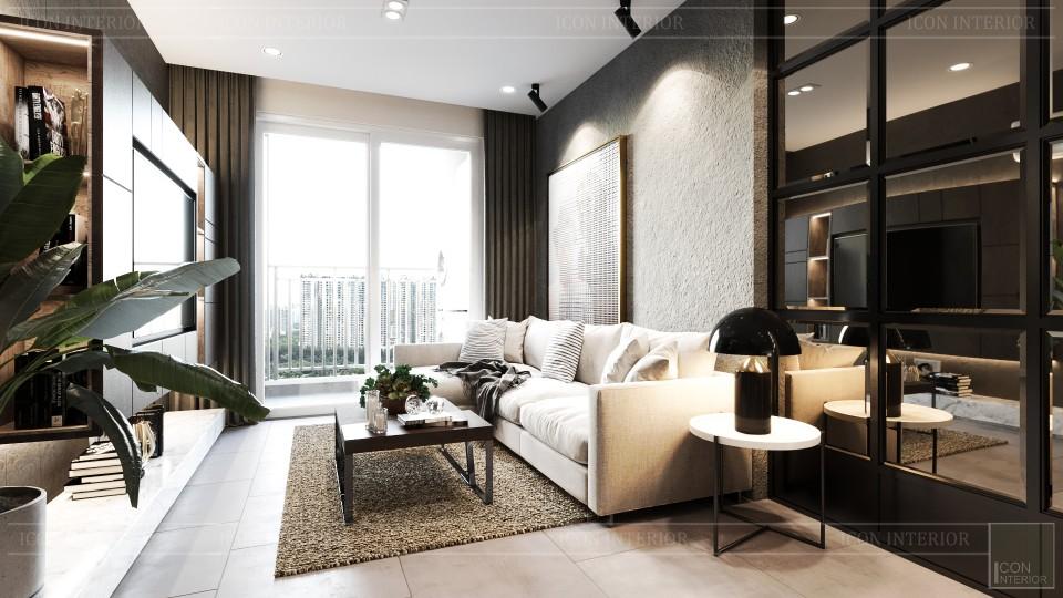 phong cách công nghiệp trong thiết kế nội thất - phòng khách bếp 4