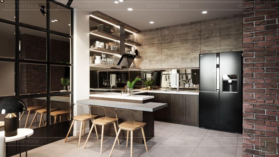 nội thất phòng bếp căn hộ 75m2