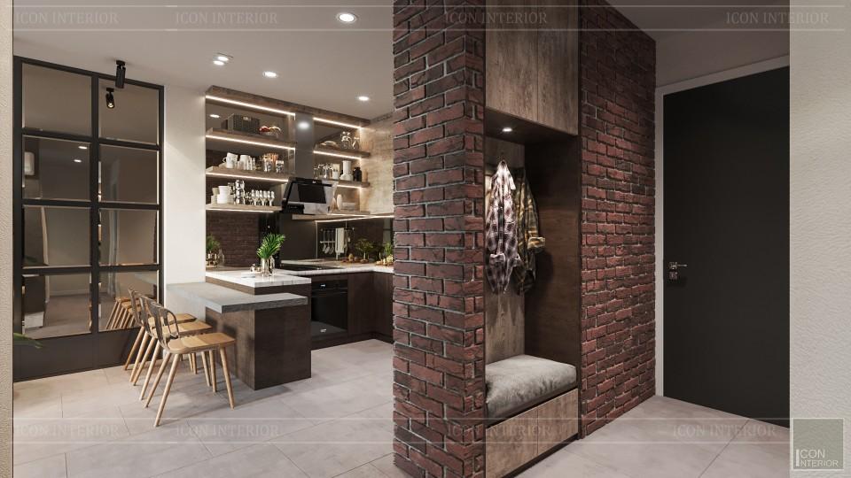 Thiết kế căn hộ chung cư 70m2 2 phòng ngủ Sunrise City Vew