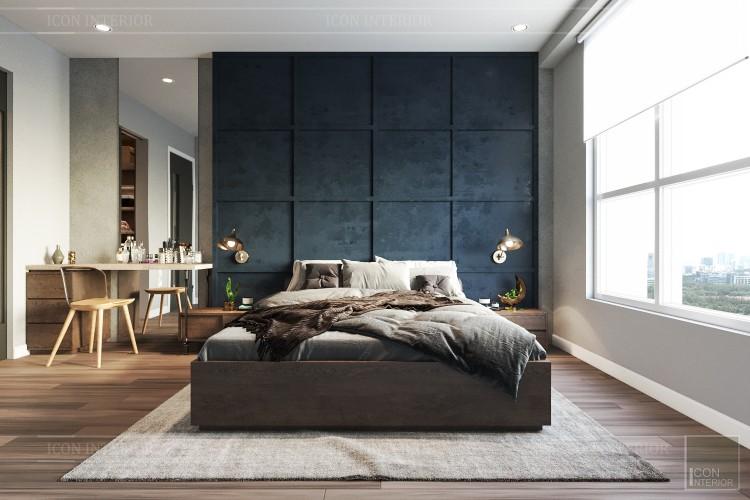 phong cách công nghiệp trong thiết kế nội thất - phòng master 1