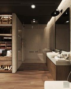 phong cách công nghiệp trong thiết kế nội thất - phòng master 3