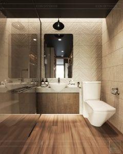 phong cách công nghiệp trong thiết kế nội thất - phòng master 4