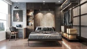 phong cách công nghiệp trong thiết kế nội thất - phòng ngủ 5