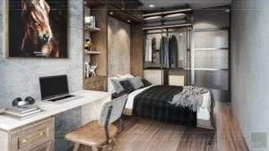 phong cách công nghiệp trong thiết kế nội thất - phòng ngủ 4