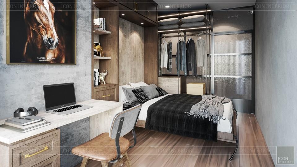 thiết kế nội thất phòng ngủ thông minh tiết kiệm diện tích