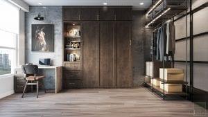 phong cách công nghiệp trong thiết kế nội thất - phòng ngủ 2