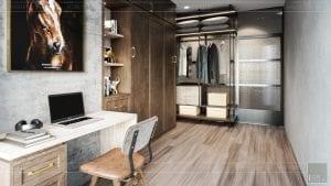 phong cách công nghiệp trong thiết kế nội thất - phòng ngủ 3