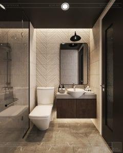 phong cách công nghiệp trong thiết kế nội thất - phòng khách bếp 7