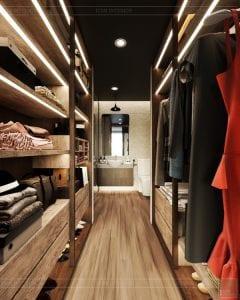 phong cách công nghiệp trong thiết kế nội thất - phòng master 8