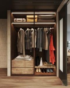 phong cách công nghiệp trong thiết kế nội thất - phòng master 5