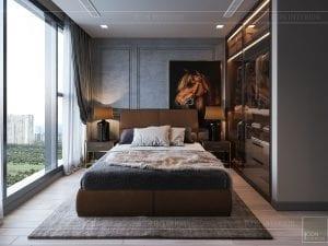 thiết kế căn hộ chung cư 3 phòng ngủ - phòng ngủ khách 2