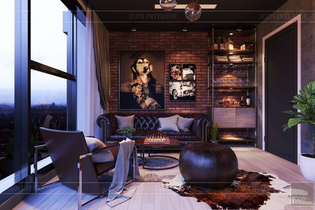 thiết kế căn hộ chung cư 3 phòng ngủ - phòng làm việc 5