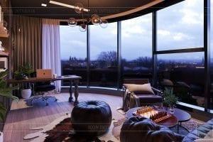 thiết kế căn hộ chung cư 3 phòng ngủ - phòng làm việc 4