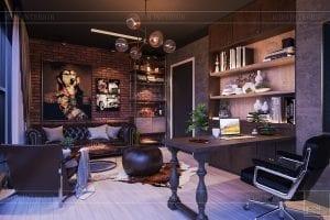 thiết kế căn hộ chung cư 3 phòng ngủ - phòng làm việc 3
