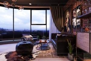 thiết kế căn hộ chung cư 3 phòng ngủ - phòng làm việc 2