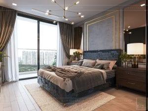 thiết kế căn hộ chung cư 3 phòng ngủ - phòng ngủ master 2