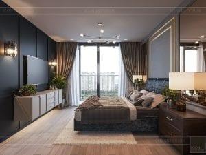 thiết kế căn hộ chung cư 3 phòng ngủ - phòng ngủ master 4