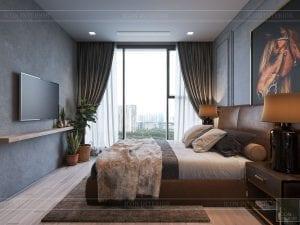 thiết kế căn hộ chung cư 3 phòng ngủ - phòng ngủ khách 1