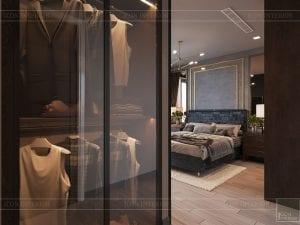 thiết kế căn hộ chung cư 3 phòng ngủ - phòng ngủ master 1