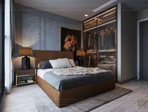 thiết kế căn hộ chung cư 3 phòng ngủ - phòng ngủ khách 3