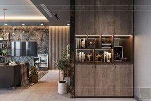 thiết kế căn hộ chung cư 3 phòng ngủ - phòng khách bếp 1