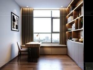 thiết kế căn hộ de capella - phòng làm việc 1