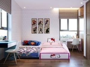 thiết kế căn hộ de capella - phòng ngủ trẻ em 2